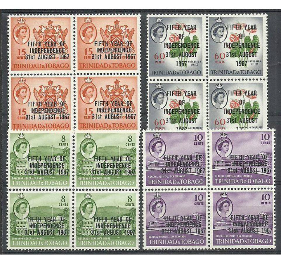 Trynidad i Tobago 1967 Mi 206-209 Czyste **