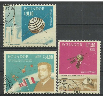 Znaczek Ekwador 1966 Mi 1283-1285 Stemplowane