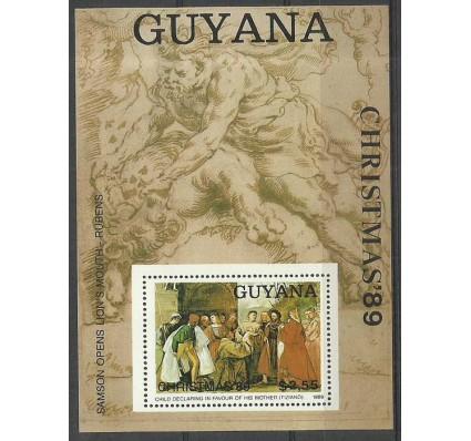 Znaczek Gujana 1989 Mi bl 72 Czyste **