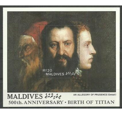 Znaczek Malediwy 1989 Mi bl 149 Czyste **