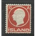 Islandia 1912 Mi 70 Z podlepką *
