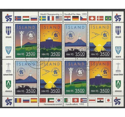 Znaczek Islandia 1995 Mi ark 820-823 Stemplowane
