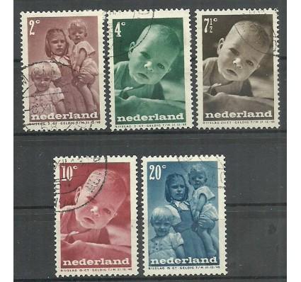 Znaczek Holandia 1947 Mi 495-499 Stemplowane