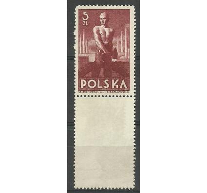 Znaczek Polska 1947 Mi 472b Fi 437 Czyste **
