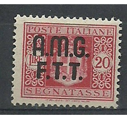 Znaczek Triest - Włochy 1947 Mi por 4 Z podlepką *