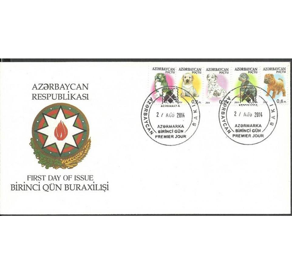Azerbejdżan 2014 Mi 1043-1047 FDC