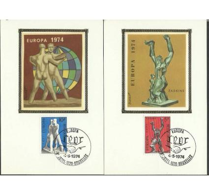 Znaczek Belgia 1974 Mi 1766-1767 Karta Max