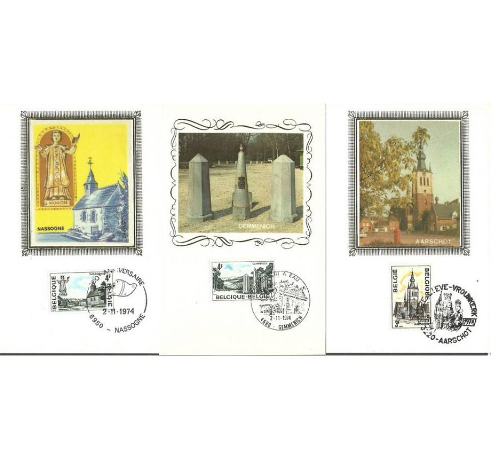 Belgia 1974 Mi 1786-1788 Karta Max