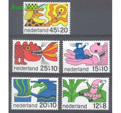 Znaczek Holandia 1968 Mi 905-909 Czyste **