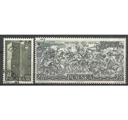 Znaczek Polska 1960 Mi 1175-1176 Fi 1031-1032 Stemplowane