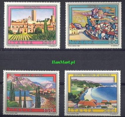 Znaczek Włochy 1981 Mi 1759-1762 Czyste **