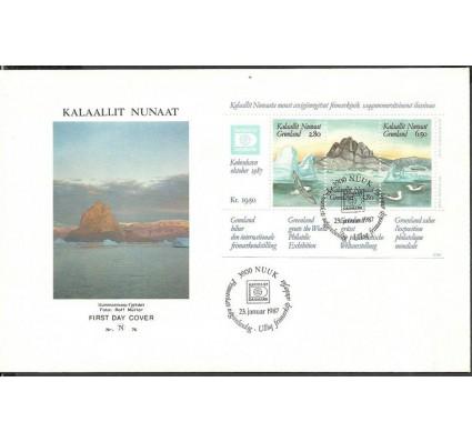 Znaczek Grenlandia 1987 Mi bl 1 FDC