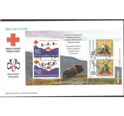 Znaczek Grenlandia 1993 Mi bl 4 FDC
