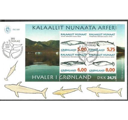 Znaczek Grenlandia 1997 Mi bl 13 FDC