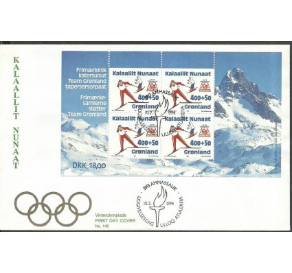 Znaczek Grenlandia 1994 Mi bl 5 FDC