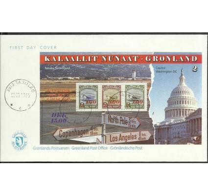 Znaczek Grenlandia 1995 Mi bl 7 FDC
