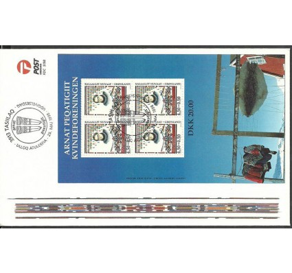 Znaczek Grenlandia 1998 Mi bl 15 FDC