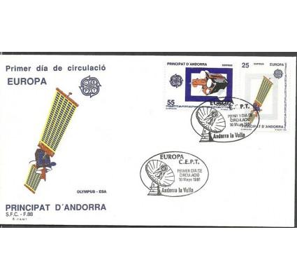 Znaczek Andora Hiszpańska 1991 Mi 221-222 FDC