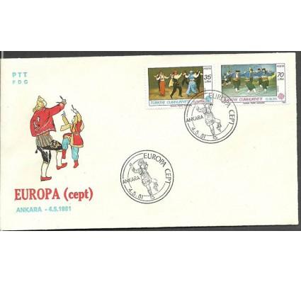 Znaczek Turcja 1981 Mi 2546-2547 FDC