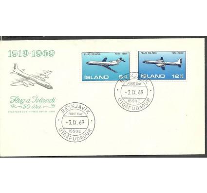 Znaczek Islandia 1969 Mi 432-433 FDC