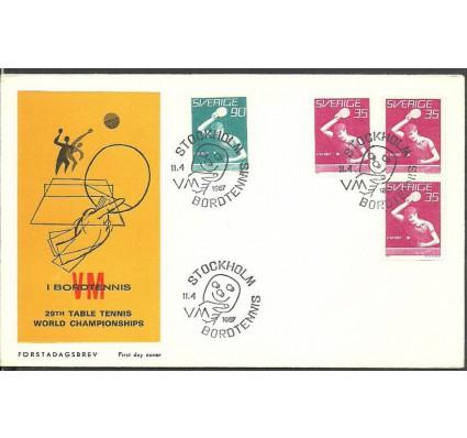 Znaczek Szwecja 1967 Mi 578CDoDu-579C FDC