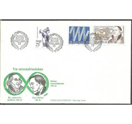 Znaczek Szwecja 1975 Mi 903+904+905 FDC