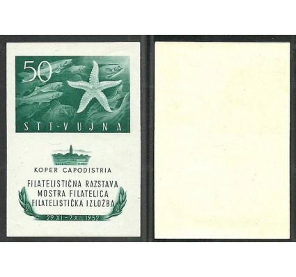 Znaczek Triest - Jugosławia Zone B 1952 Mi bl2 Z podlepką *