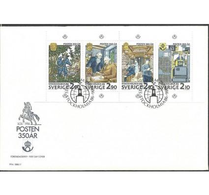 Znaczek Szwecja 1986 Mi h-blatt 143 FDC