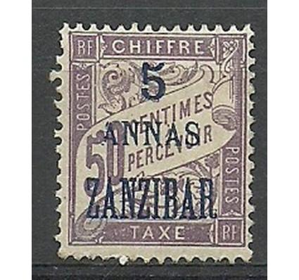 Znaczek Zanzibar 1897 Mi por 5 Z podlepką *