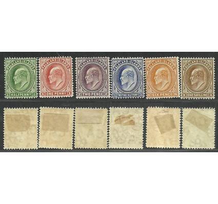 Znaczek Falklandy 1904 Mi 17-22 Z podlepką *