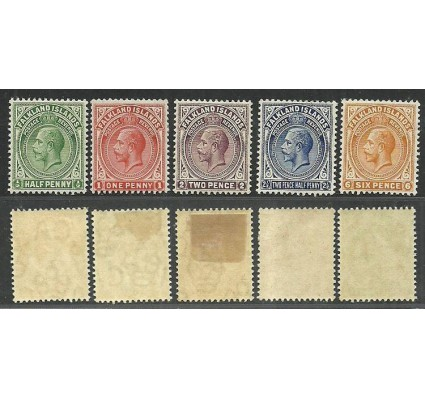 Znaczek Falklandy 1928 Mi 25-29 Z podlepką *