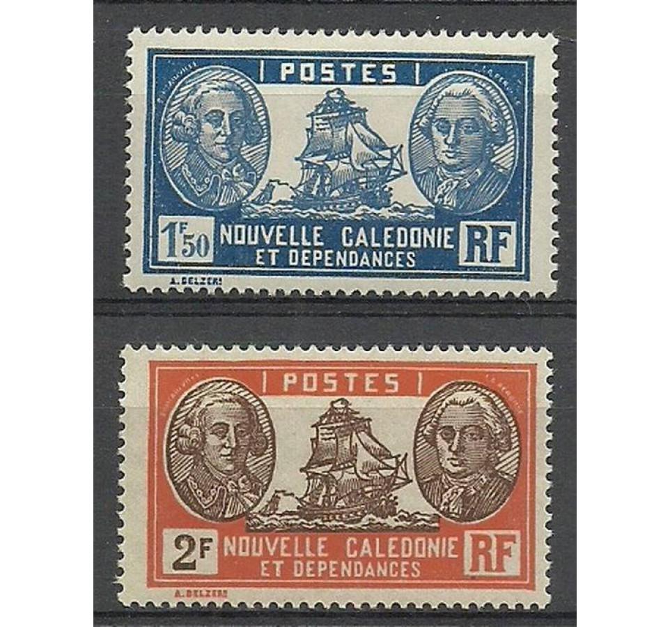 Nowa Kaledonia 1928 Mi 160+163 Czyste **
