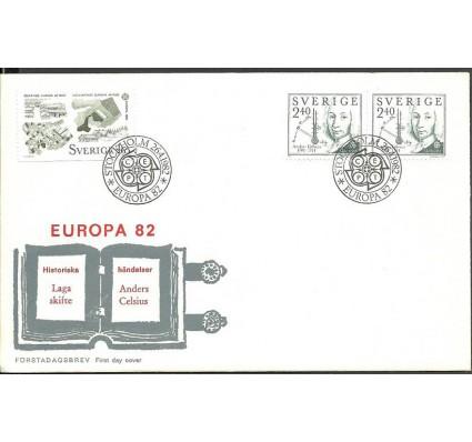 Znaczek Szwecja 1982 Mi 1187-1188DlDr FDC