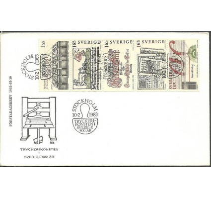 Znaczek Szwecja 1983 Mi 1225-1229 FDC