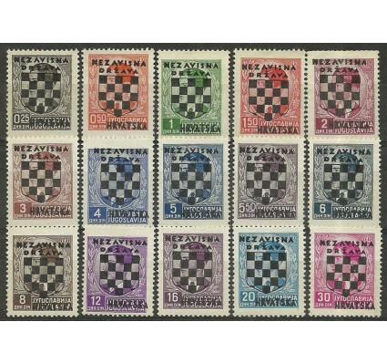 Znaczek Chorwacja 1941 Mi 9-23 Z podlepką *