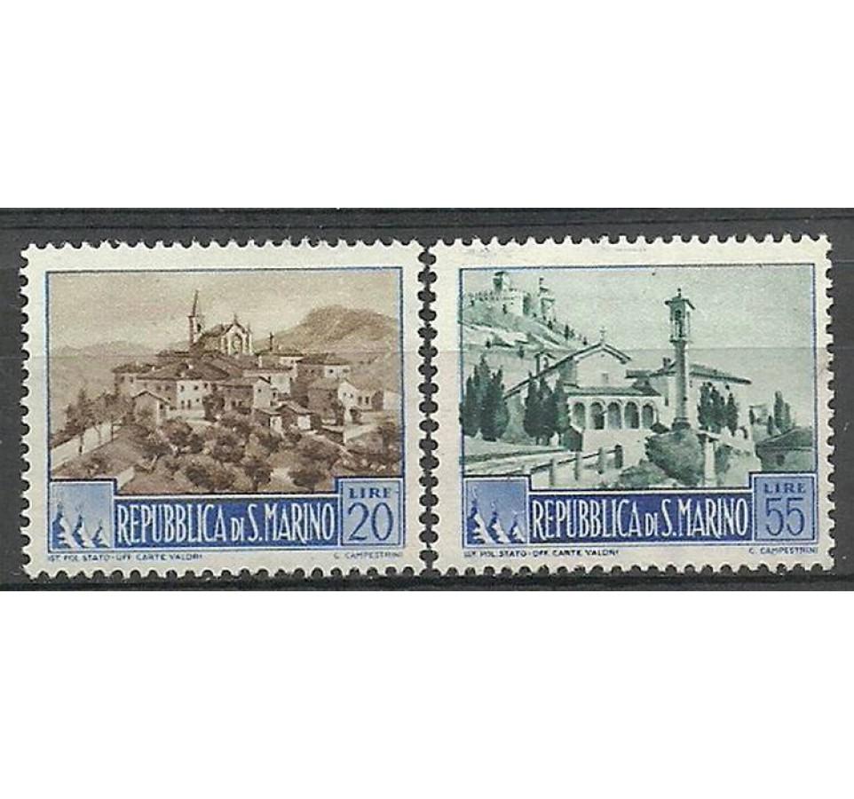 San Marino 1950 Mi 440-441 Z podlepką *