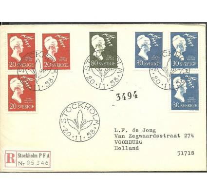 Znaczek Szwecja 1958 Mi adr443-445C FDC
