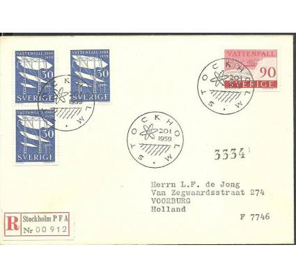 Znaczek Szwecja 1959 Mi adr446-447 FDC