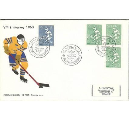 Znaczek Szwecja 1963 Mi adr502-503 FDC