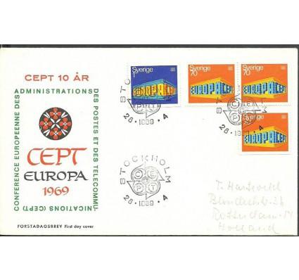 Znaczek Szwecja 1969 Mi adr634-635A FDC
