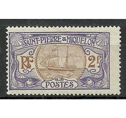 Znaczek Saint-Pierre i Miquelon 1909 Mi 88 Z podlepką *