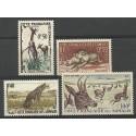 Somali Francuskie 1958 Mi 314-317 Z podlepką *