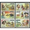 Liberia 1975 Mi 960-965 Czyste **