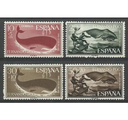 Znaczek Fernando Poo / Bioko 1960 Mi 188-191 Czyste **
