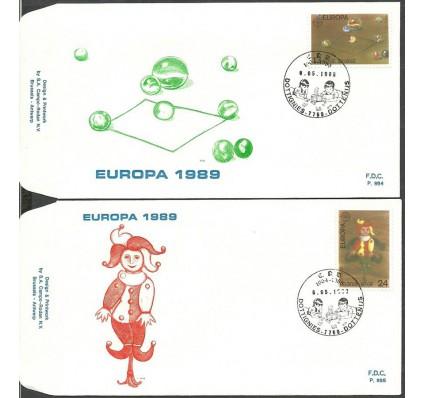 Znaczek Belgia 1989 Mi 2375-2376 FDC