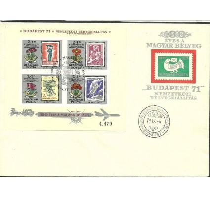 Znaczek Węgry 1971 Mi bl 83B FDC