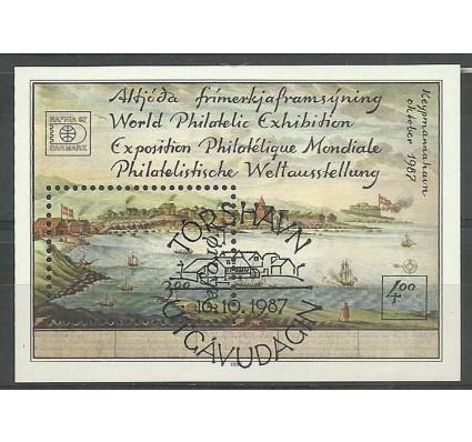 Znaczek Wyspy Owcze 1987 Mi bl 3 Stemplowane