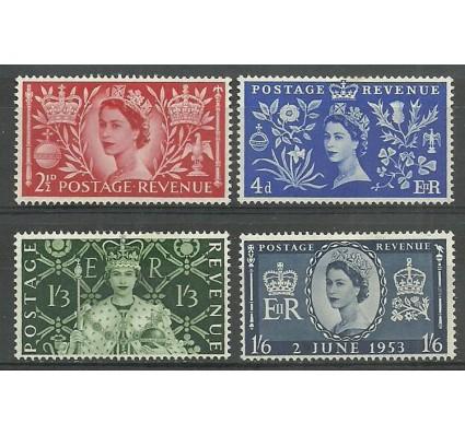 Znaczek Wielka Brytania 1953 Mi 274-277 Z podlepką *