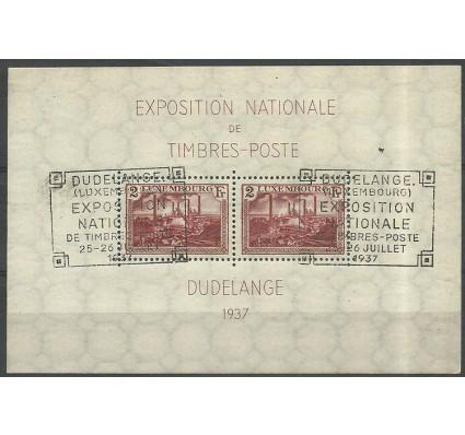 Znaczek Luksemburg 1937 Mi bl 2 Stemplowane