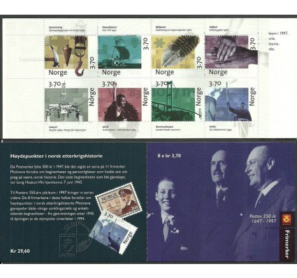 Znaczek Norwegia 1997 Mi mh 1249-1256 Czyste **